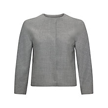 Buy Jaeger Puppytooth Waist Jacket, Ivory / Grey Online at johnlewis.com