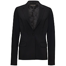 Buy Jaeger Tropical Wool Blazer, Black Online at johnlewis.com