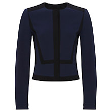 Buy Jaeger Compact Jersey Jacket, Black/Blue Online at johnlewis.com
