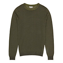 Buy Reiss Harrison Neon Thread Jumper, Black/Yellow Online at johnlewis.com