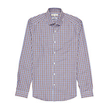 Buy Reiss Marty Slim Fit Check Shirt, Bordeaux Online at johnlewis.com