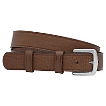 Buy Reiss Stuie Leather Belt, Tan Online at johnlewis.com