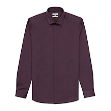 Buy Reiss Dust Long Sleeve Shirt, Bordeaux Online at johnlewis.com
