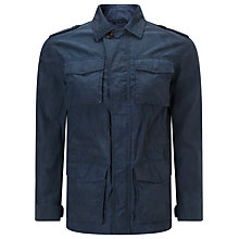 Buy John Lewis Mid Length Waxed Jacket, Navy Online at johnlewis.com