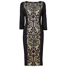 Buy Phase Eight Sophiane Lace Dress, Black/Beige Online at johnlewis.com
