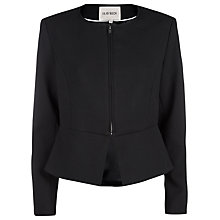 Buy Havren Peplum Zip Front Jacket, Black Online at johnlewis.com