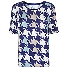Buy Havren Houndstooth Top, Navy Combo Online at johnlewis.com