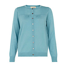 Buy Havren Pretty Pleated Wool Cardigan, Dusty Blue Online at johnlewis.com