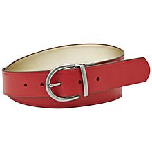 Buy Fossil Jean Fit Reversible Leather Belt, Scarlet Online at johnlewis.com