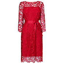 Buy Phase Eight Harper Guipure Lace Dress, Scarlet Online at johnlewis.com