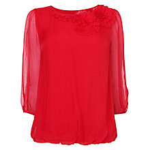 Buy Phase Eight Rose Silk Blouse, Cardinal Red Online at johnlewis.com