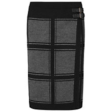 Buy Phase Eight Cassidy Check Skirt, Grey/Black Online at johnlewis.com