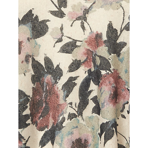 Buy Phase Eight Gracie Floral Top, Stone Online at johnlewis.com