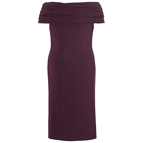 Buy Chesca Twist Knot Jersey Dress, Aubergine Online at johnlewis.com