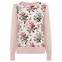 Buy Oasis Primrose Woven Front Top, Neutral Online at johnlewis.com