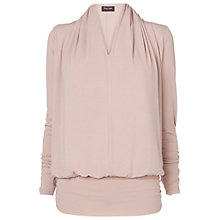 Buy Phase Eight Gwyneth V Neck Dana Top, Pale Pink Online at johnlewis.com