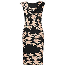 Buy Phase Eight Kimono Bird Dress, Black/Camel Online at johnlewis.com