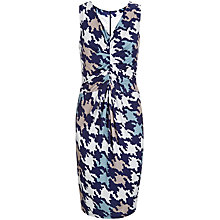 Buy Havren Houndstooth Dress, Navy Combo Online at johnlewis.com