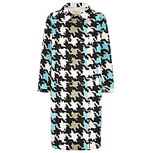 Buy Havren Houndstooth Coat, Charcoal Online at johnlewis.com
