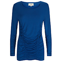 Buy Havren Drape Ruched Jersey Top, Ocean Blue Online at johnlewis.com