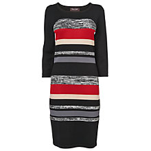 Buy Phase Eight Shelby Stripe Knit Dress, Black/Red Online at johnlewis.com