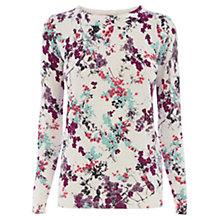 Buy Oasis Painted Blossom Jumper Online at johnlewis.com