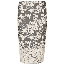 Buy Phase Eight Elspeth Jacquard Skirt, Charcoal Online at johnlewis.com