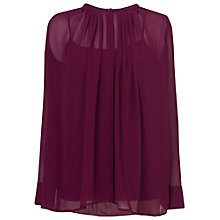 Buy Phase Eight Normandie Silk Blouse, Damson Online at johnlewis.com