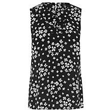 Buy Oasis Scatter Clover Sleeveless Top, Black Online at johnlewis.com