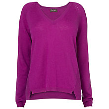 Buy Phase Eight Shona Step Hem Jumper, Fuchsia Online at johnlewis.com