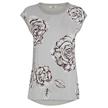 Buy Oasis The Katie Top, Multi Grey Online at johnlewis.com