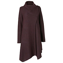 Buy Phase Eight Bellona Waterfall Coat, Deep Wine Online at johnlewis.com