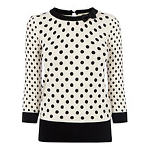 Buy Oasis The Mia Jumper, Off White Online at johnlewis.com