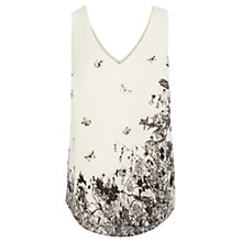 Buy Oasis Botanical V-Neck Vest, White/Multi Online at johnlewis.com
