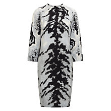 Buy Whistles Ocelot Print Tunic Dress, Grey/Multi Online at johnlewis.com