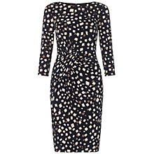 Buy Adrianna Papell Wrap Detail Dress, Navy / Taupe Online at johnlewis.com