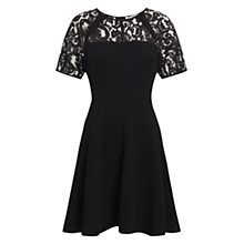 Buy Whistles Jude Raglan Lace Dress, Black Online at johnlewis.com