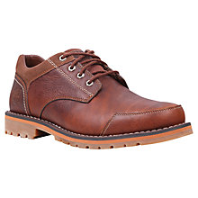 Buy Timberland Larchmont Leather Oxford Shoes, Red Brown Online at johnlewis.com