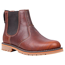 Buy Timberland Larchmont Leather Chelsea Boot, Red Brown Online at johnlewis.com