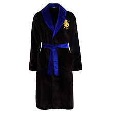 Buy Polo Ralph Lauren Cotton Velour Robe, Black Online at johnlewis.com