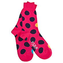 Buy Thomas Pink Seymour Spot Socks, Pink/Navy Online at johnlewis.com