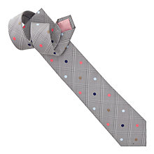 Buy Thomas Pink Check and Spot Tie, Grey/Orange Online at johnlewis.com