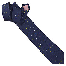 Buy Thomas Pink Jackson Dot Tie, Navy/Yellow Online at johnlewis.com