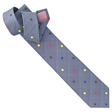 Buy Thomas Pink Check and Spot Tie, Blue/Yellow Online at johnlewis.com