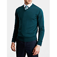 Buy Thomas Pink Hawthorne Merino Jumper, Deep Green Online at johnlewis.com