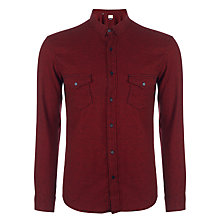 Buy Selected Homme One Creep Shirt, Oxblood Red Checked Online at johnlewis.com