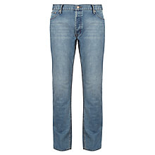 Buy Cheap Monday Five Tapered Jeans, Ultra Blue Online at johnlewis.com