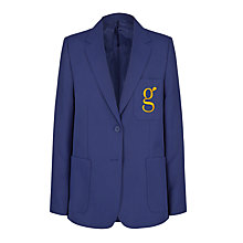 Buy Goffs School Girls' Blazer with Badge, Royal Blue Online at johnlewis.com