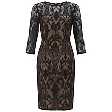 Buy Adrianna Papell All Over Deco Lace Dress, Black Online at johnlewis.com