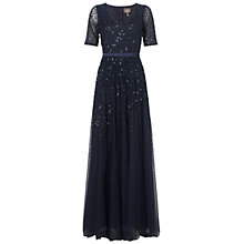 Buy Adrianna Papell Sequin Ball Gown, Midnight Blue Online at johnlewis.com